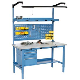 Heavy Duty Electronic Production Benches - Blue