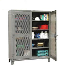 All Welded 12 Gauge Heavy Duty Ventilated Storage Cabinets