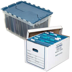 Transfer File Record Storage Boxes With Lid - Letter or Legal