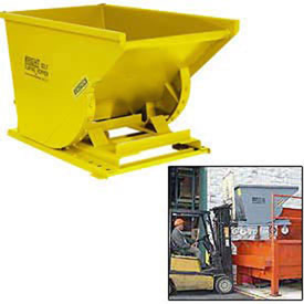 Stacking Feature for 1-1/2 Cu Yd and Greater Wright Yellow Self-Dumping Hoppers