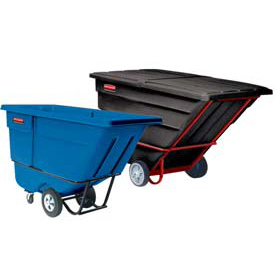 Rubbermaid® Plastic Tilt Trucks - up to 2-1/2 Cu. Yd. Capacity