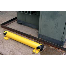 Steel Floor Stop Bollards With Removable Rubber Caps