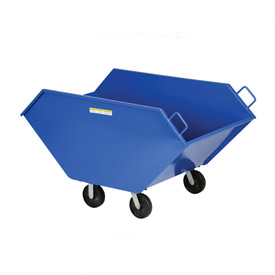 Vestil Tapered Steel Tilt Waste Trucks