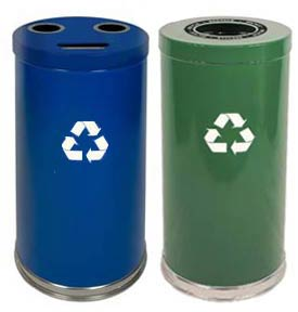 Steel Recycling Waste Receptacles