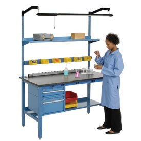 Heavy Duty Electric Lab Bench - Blue