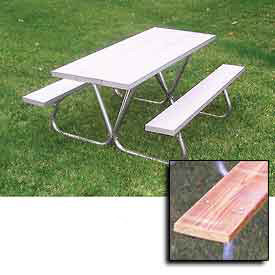 Ultra Play® - Aluminum & Wood Top Picnic Tables