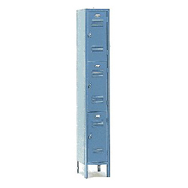 Penco 6321V-1-028KD Door Pull Handle Triple Tier Locker 12x15x24 Unassembled 1 Wide Gray
