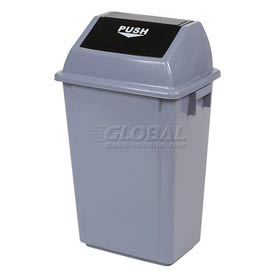 Global™ Flip Top Trash Can