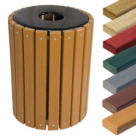 Wood & Recycled Plastic Receptacles