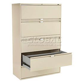 Global™   Lateral File   Fixed U0026 Retracting Front Drawers