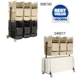 Double Sided Chair & Table Carts