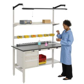 Heavy Duty Electric Lab Bench - Tan