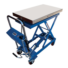 Vestil Mobile Scissor Lift Table with Integral Scale