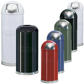 Rubbermaid® Steel Round Waste Receptacle