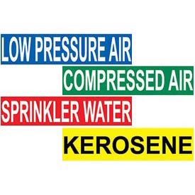 "Pressure Sensitive Vinyl Pipe Markers – 1 1/8"" X 7"""