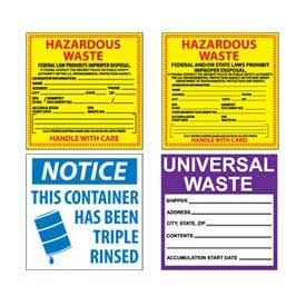Hazmat Hazardous Waste Labels