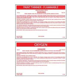 "Hazmat Container Labels – 3-1/4"" X 6-1/2"