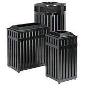 Rubbermaid® Classic Open Top Galvanized Steel Trash Containers