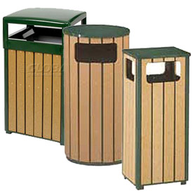 Rubbermaid® Regent 50 Series Polyethylene Lumber Slat Garbage Cans