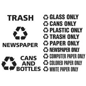 Rubbermaid® Recycling Decals