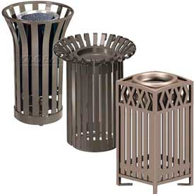 Metal Slatted Cigarette Urns