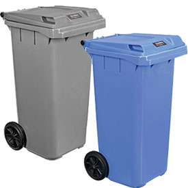 Global Industrial™ Mobile Trash Containers With Lid