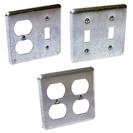 Two Device Square Wall Plates