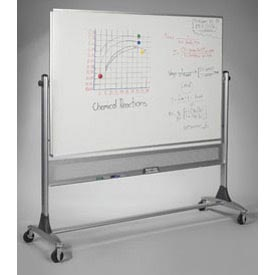 "Balt® Reversible Platinum Whiteboard Porcelain Both Sides - 72""W x 48""H"