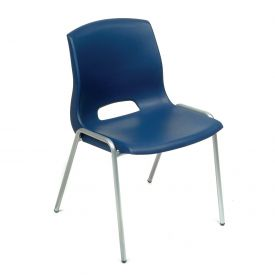 Stack Chairs - Plastic - Blue - Merion Collection - Pkg Qty 4