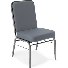 OFM Stacking Guest Chair - Fabric - Mid Back - Gray