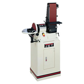 "JET 708579K Model JSG-96CS 3/4HP 1-Phase 115V 6"" x 48"" Belt / 9"" Disc Sander W/ Closed Stand"