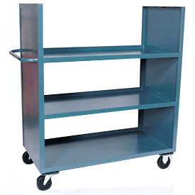 Jamco Two-Sided Steel Shelf Trucks with Solid End Panels
