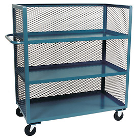 Three-Sided Clearview Steel Mesh Package Trucks