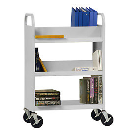 Sandusky® Welded Combination Book Carts - Flat Bottom Shelf