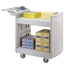 Safco® Plastic Book Storage Cart