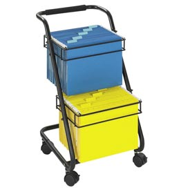 Safco® Two-Tier Office File Cart