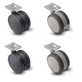 Shepherd® Softech Swivel Top Plate Soft Tread Casters