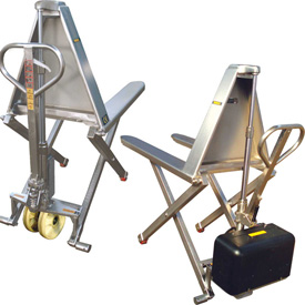 Wesco® Stainless Steel High-Lift Skid Trucks