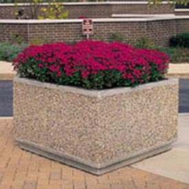 Wausau Tile - Square Concrete Planters – 30 To 38 Inch Wide