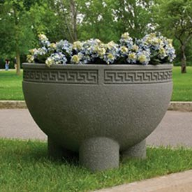Wausau Tile - Round Concrete Planters – 36 Inch Wide