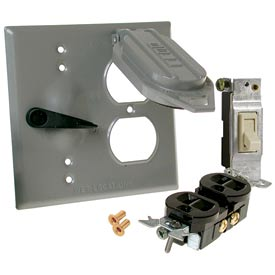 Weatherproof Two-Gang Lever / Toggle Switch Covers