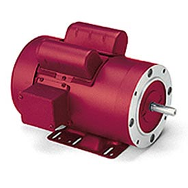 Leeson High Torque Motors, C Face With Base, Single-Phase, TEFC