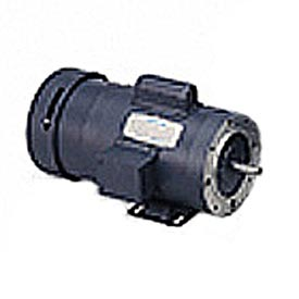 Leeson Brake Motors, Single Phase, TENV/TEFC, C Face With Base