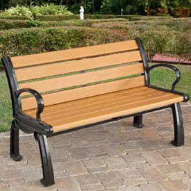 Plastic/Recycled Plastic Benches with Back & Arms