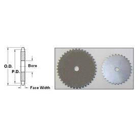 Steel Sprockets No. 40, 1/2 Inch Pitch - Type A