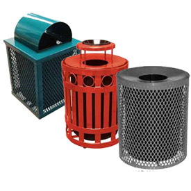 Leisure Craft Outdoor Metal Waste Receptacles