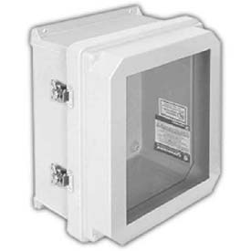 Waterproof/Corrosion Resistant Electrical Enclosures with Bonded or Gasketed Window