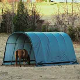 ShelterLogic® Instant Run-In Equine Sheds