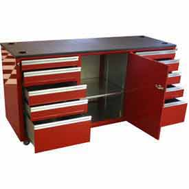 Large Aluminum Rolling Tool Chest Cabinets
