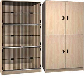 Ironwood Wood Storage Cabinets - Solid, Grill Door & Open Front